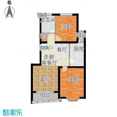 鸿发家园88.55㎡鸿发家园户型图B户型2室2厅1卫1厨户型2室2厅1卫1厨