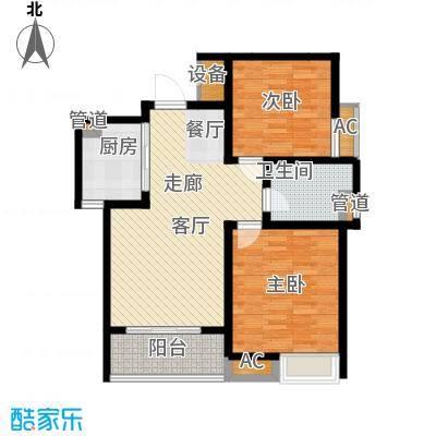 嘉业阳光假日嘉业阳光假日户型图户型2-面积约87.61平米2室2厅1卫1厨户型2室2厅1卫1厨