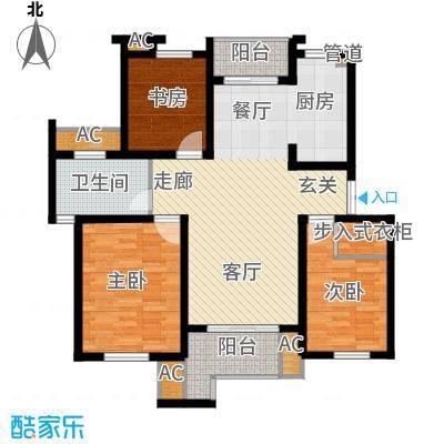 新港名墅花园103.00㎡新港名墅花园户型图3#7#楼标准层A1户型3室2厅1卫1厨户型3室2厅1卫1厨