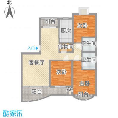 文化花园明珠苑128.20㎡文化花园明珠苑户型图上海文化花园户型图3室2厅2卫1厨户型3室2厅2卫1厨