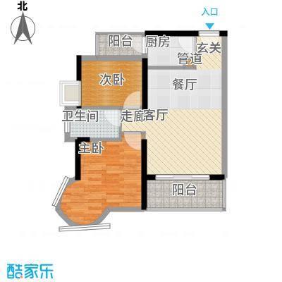 凯旋国际64.72㎡凯旋国际户型图大班行宫2室2厅1卫1厨户型2室2厅1卫1厨