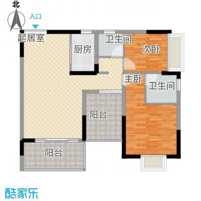 东津名座东津名座(3栋C/D)2室户型2室