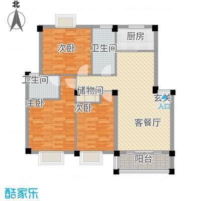 聚龙苑148.00㎡聚龙苑3室户型3室