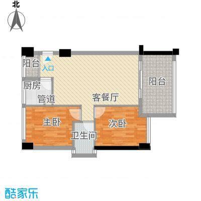 中港城144.00㎡中港城2室户型2室