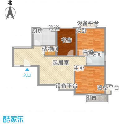 上域逸庭苑88.00㎡上域逸庭苑3室户型3室