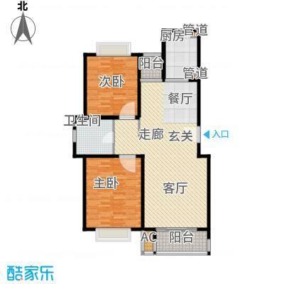 鎏园户型图户型图 2室2厅1卫