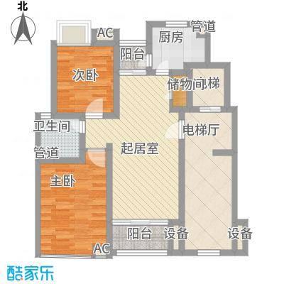 恒杰丁香花园95.04㎡恒杰丁香花园户型图G户型3室户型3室