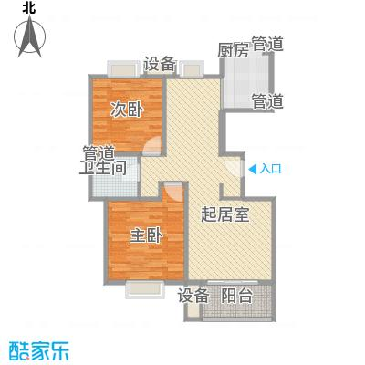 绿地公园7号户型图F2户型 2室2厅1卫