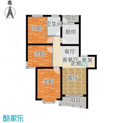 鸿发家园107.00㎡鸿发家园户型图A户型3室2厅1卫1厨户型3室2厅1卫1厨