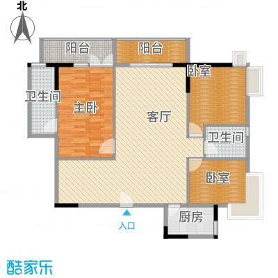 怡乐花园137.30㎡怡和阁02单元户型1室1厅2卫1厨