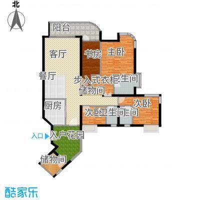 珊瑚水岸170.00㎡二期8-10栋标准层12户型4室2厅3卫