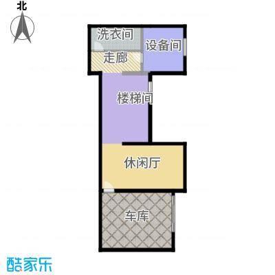 天恒・半山世家102.89㎡I半地下室平面图户型8室5厅4卫