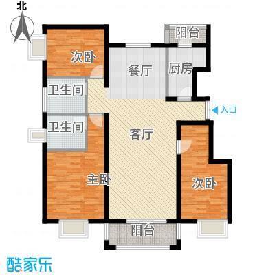 金润凤凰洲131.12㎡C13号楼户型3室2厅2卫