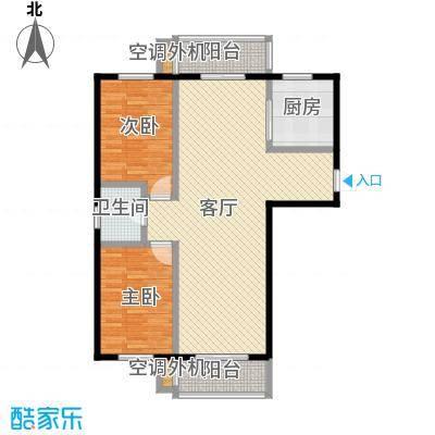 华地榆林苑102.09㎡户型2室1厅1卫1厨