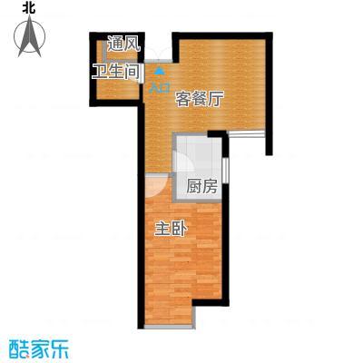 富民河畔家园51.23㎡标准层C户型1室1厅1卫