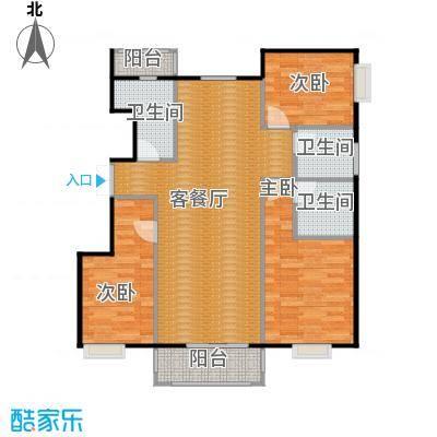 金润凤凰洲123.49㎡C78、9、17号楼户型3室2厅2卫