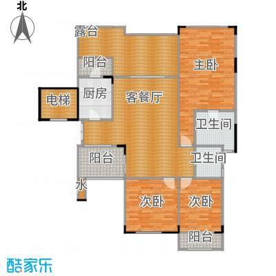 蓝溪谷地109.87㎡一期39栋第5层B户型3室1厅2卫1厨