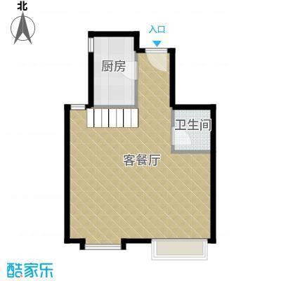 星河18562.00㎡C层户型1厅1卫1厨