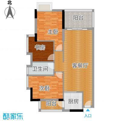 新时代家园92.39㎡1栋02-3栋0户型3室2厅1卫