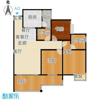 龙乡苑铜新花园108.10㎡3、4、5、6号楼D3户型图 3室2厅2卫1厨108.10㎡户型3室2厅2卫