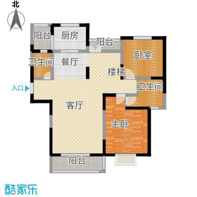 中航瑞祥花园225.90㎡复式B5一层户型4室2厅4卫