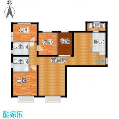 天津大都会162.00㎡五号地块A户型4室2厅2卫