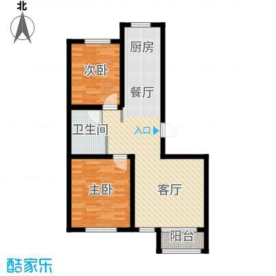 荣馨园88.80㎡B1户型2室2厅1卫