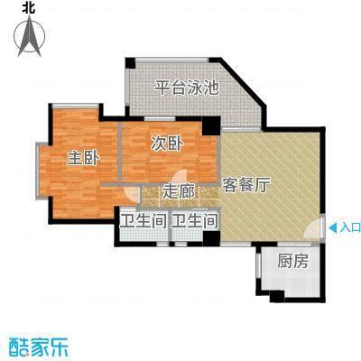 居礼润园99.65㎡3&6公寓户型2室1厅2卫1厨