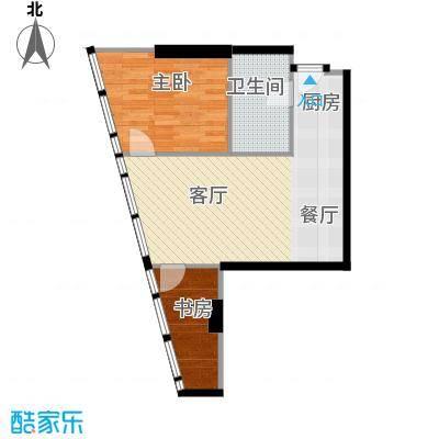 深圳湾92.00㎡户型2室2厅1卫