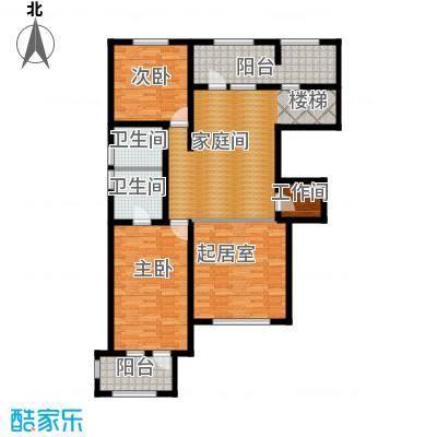 宜和澜岸120.80㎡A3跃层二层户型10室