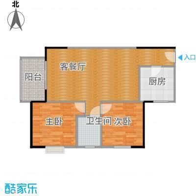 曲江澜山91.43㎡A1方正双面采光4米大面积客厅户型2室1厅1卫1厨