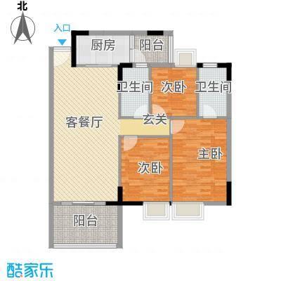 新时代家园109.95㎡1栋02-3栋0户型3室2厅1卫
