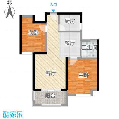 金地艺境88.00㎡H-1户型2室2厅1卫