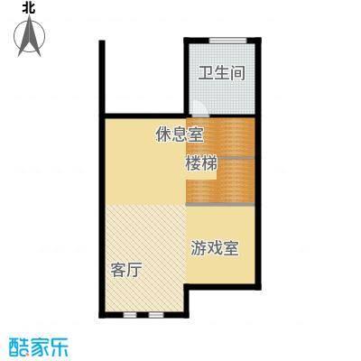 万通龙山逸墅81.24㎡1F娱乐室户型10室