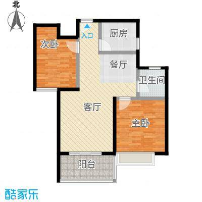 金地艺境88.00㎡G2户型2室2厅1卫