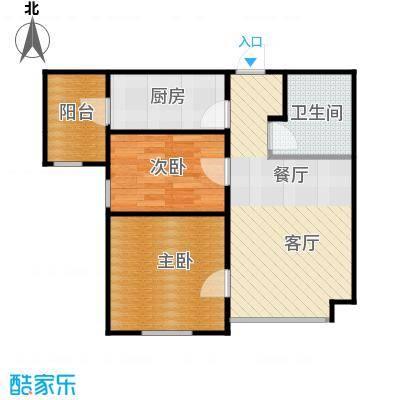 新梅江雅境新枫尚75.40㎡C02户型2室1厅1卫