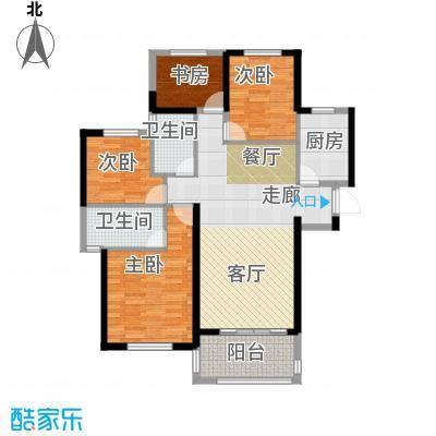 金地艺境125.00㎡G1户型4室2厅2卫