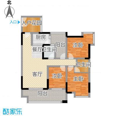 华宇春江花月95.35㎡11号楼3号房户型3室1厅2卫1厨