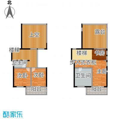 方圆明月山溪285.00㎡风雅颂组团B3二、三层户型3室2卫
