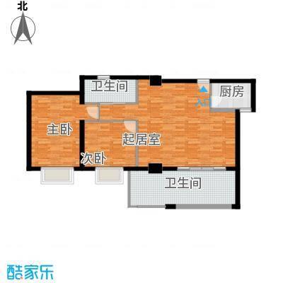 居礼润园92.24㎡1&2号公寓户型2室2卫1厨
