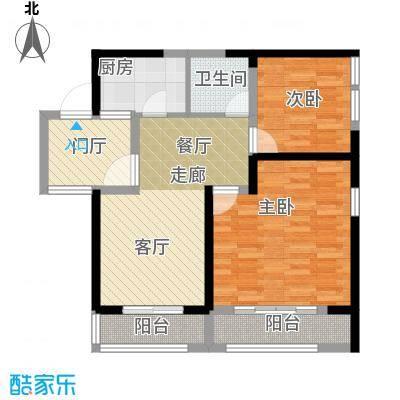 九形道88.00㎡C-2户型2室2厅1卫
