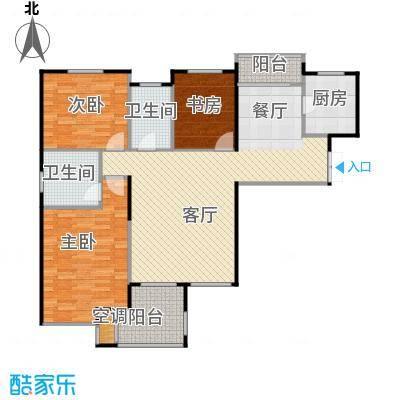 香格里130.00㎡1#、2#、5#、9#户型3室2厅2卫
