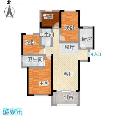 金地艺境125.00㎡J-1户型3室2厅2卫