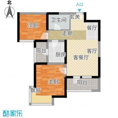 天津湾海景文苑99.00㎡C2户型2室2厅1卫
