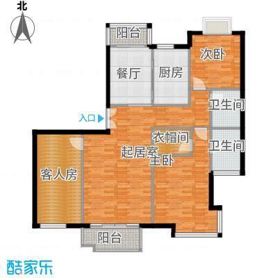 海河大道宽景公寓125.89㎡7号楼1门01户型10室