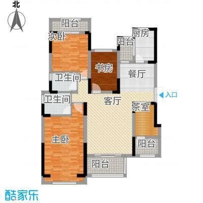 中国铁建山水时光129.62㎡洋房B2户型4室2厅2卫