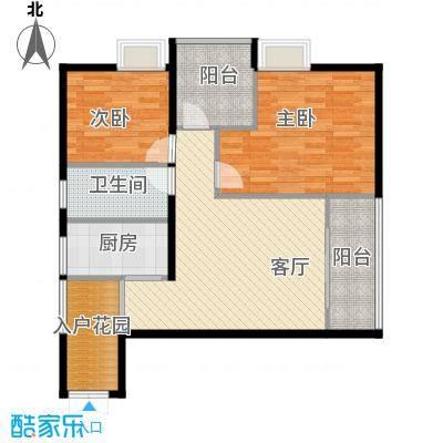"""中冶重庆早晨97.69㎡2号房""""2+X""""多变实得户型2室1厅1卫1厨"""