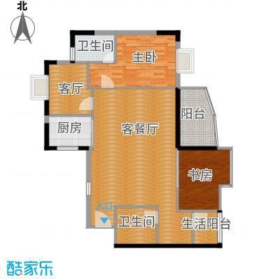 盛和新都会101.72㎡2栋标准层01、02、05、06户型2室2厅2卫1厨