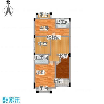 中信凯旋公馆356.00㎡园墅-二层户型3室2卫