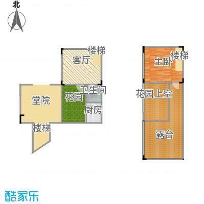 仙女山上的院子53.00㎡一期A2户型1室2厅1卫
